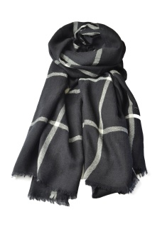 CHECKY SCARF BLACK