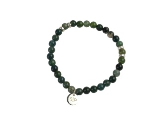 CHRIS NARROW BRACELET MOSS AGATE
