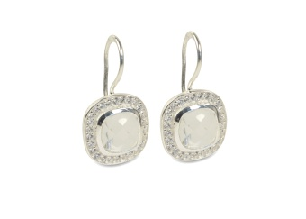 CLASSY EARRINGS SILVER MOONSTONE