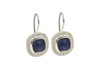 CLASSY EARRINGS SILVER LAPIS