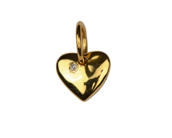 DANGLING EARRING GOLD HEART
