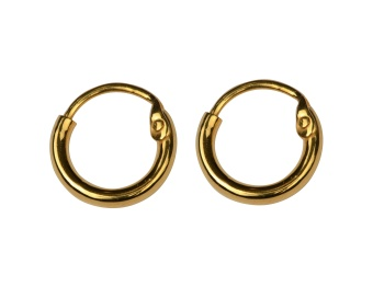 DANGLING EARRING HOOPS GOLD