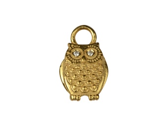 DANGLING EARRING GOLD OWL