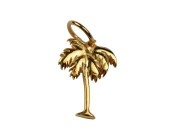 DANGLING EARRING GOLD PALM