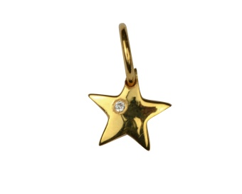 DANGLING PENDANT GOLD STAR