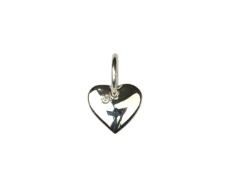 DANGLING EARRING SILVER HEART