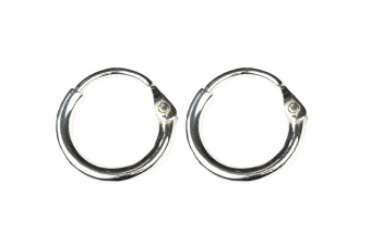 DANGLING EARRING HOOPS SILVER