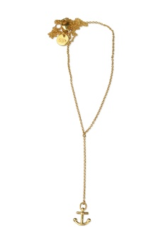 DANGLING NECKLACE GOLD ANCHOR