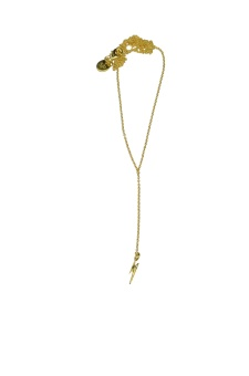 DANGLING NECKLACE GOLD FLASH