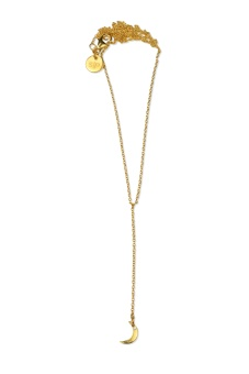 DANGLING NECKLACE GOLD MOON