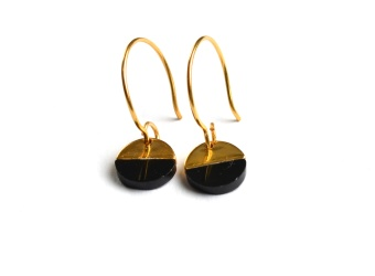 DIXXI EARRINGS, BLACK ONYX