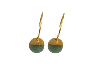 DIXXI EARRINGS GREEN AVENTURINE
