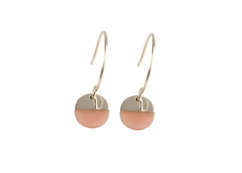 DIXXI EARRINGS PINK OPAL