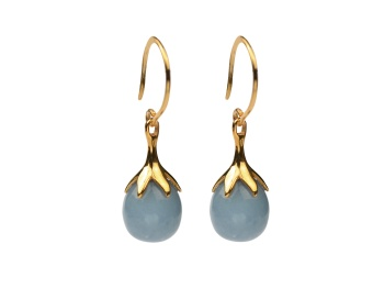 DRIPPING EARRINGS GOLD, ANGELITE