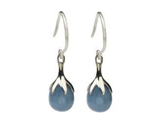 DRIPPING EARRINGS SILVER, ANGELITE