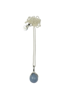 DRIPPING NECKLACE SILVER ANGELITE