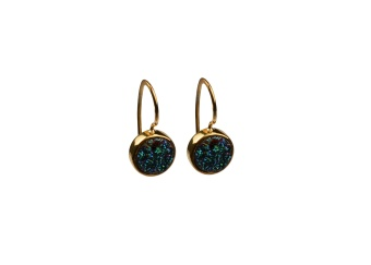 FRANCES DRUZY EARRINGS GOLD GREEN