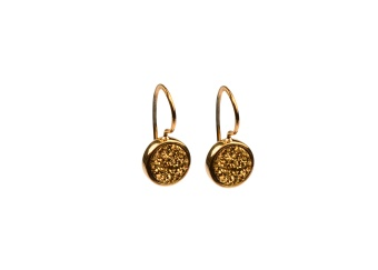 FRANCES DRUZY EARRINGS GOLD GOLDEN