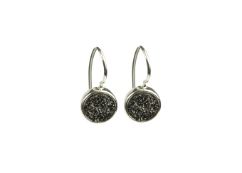 FRANCES DRUZY EARRINGS SILVER GREY