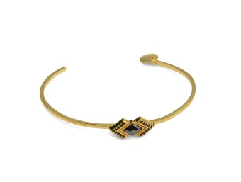 GEOMETRY BANGLE GOLD