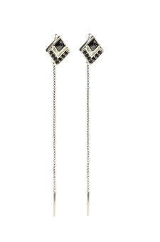 GEOMETRY EARRINGS SILVER