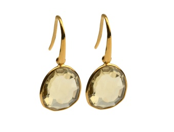 GLAM GLAM EARRINGS GOLD LEMON