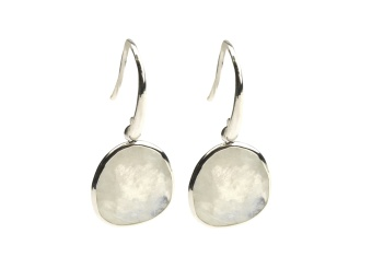GLAM GLAM EARRINGS SILVER MOONSTONE