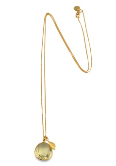 GLAM GLAM NECKLACE GOLD LEMON