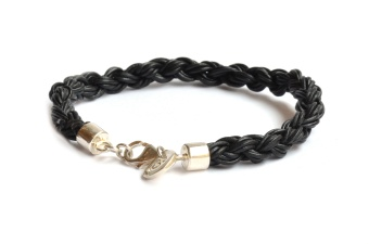 HEALING LEATHER BRACELET BLACK