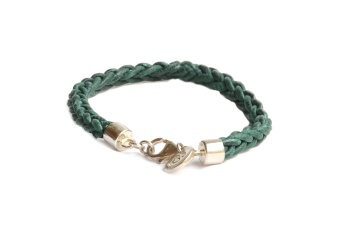 HEALING LEATHER BRACELET GREEN