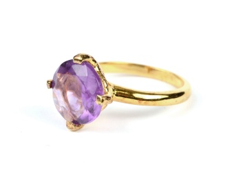 HERA RING GOLD AMETHYST S