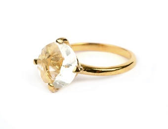 HERA RING GOLD CRYSTAL S