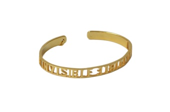 INVISIBLE INVINCIBLE BRACELET GOLD