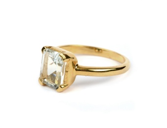 LITTLE GRACE RING LEMON QUARTZ S