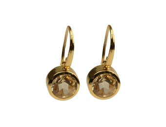 LONE STAR EARRINGS CHAMPAGNE GOLD
