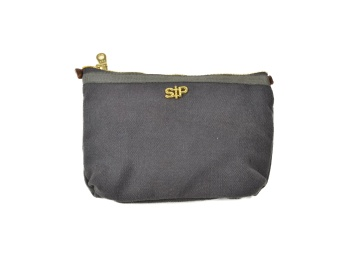 SMALL TOILETRY BAG, DARK GREY