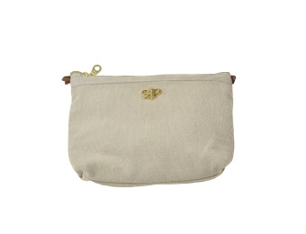 SMALL TOILETRY BAG, LIGHT GREY