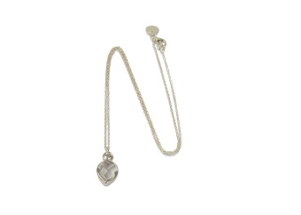 MISS DIVA SHORT NECKLACE SILVER CRYSTAL