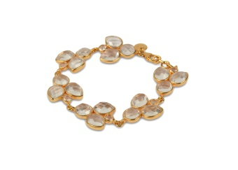 MISS DIVA BRACELET GOLD CRYSTAL