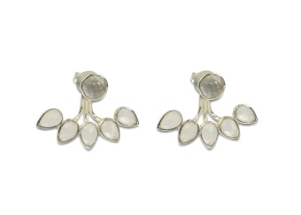 MISS DIVA DROP LINE EARRING SILVER CRYSTAL