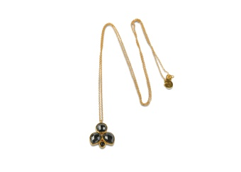 MISS DIVA LONG NECKLACE GOLD  HEMATITE