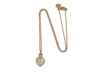 MISS DIVA SHORT NECKLACE GOLD CRYSTAL