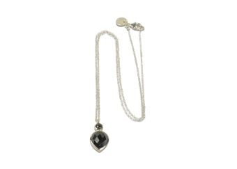 MISS DIVA SHORT NECKLACE SILVER HEMATITE