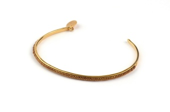 NATIVE NARROW BANGLE GOLD BRONZE