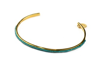 NATIVE NARROW BANGLE EMERALD GREEN