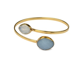 NUGGET BANGLE GOLD ANGELITE