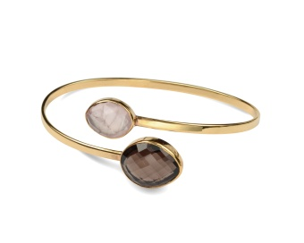 NUGGET BANGLE GOLD SMOKEY ROSE