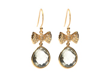 OH SO PRETTY EARRINGS GOLD GREEN AMETHYST