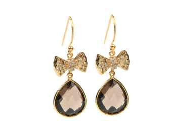 OH SO PRETTY EARRINGS GOLD SMOKEY