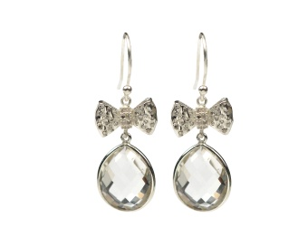 OH SO PRETTY EARRINGS SILVER CRYSTAL